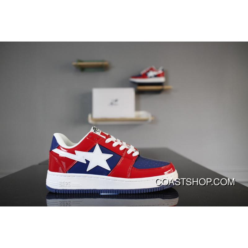 67026d6bf Air Force 1 X BAPE STA Captain America Red White Blue Copuon, Price ...